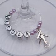Bottle Opener Personalised Wine Glass Charm